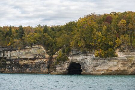 Malerische Landschaft der Lake Superior Seacave