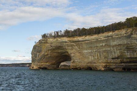 Lake Superior Sea Cave Scenic Landscape