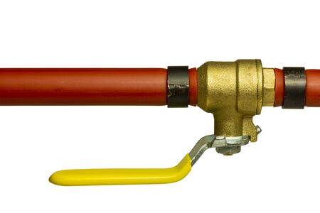 Red Pex Pipe With Shut Off Valve