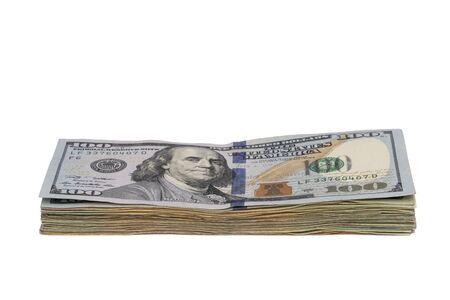 One Hundred Dollar Bills Stack Archivio Fotografico