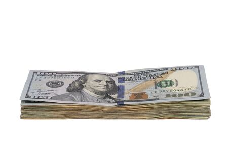 One Hundred Dollar Bills Stack Reklamní fotografie