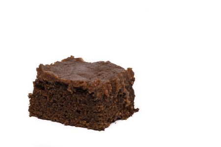 Brownie Bar With Chocolate Frosting Stock Photo