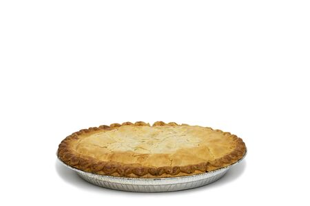 Apple Pie isolated on white Reklamní fotografie