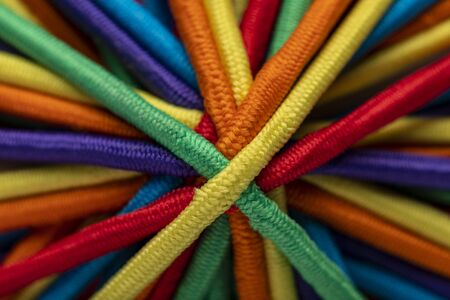 Colorful Hair Bands close up