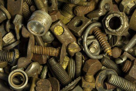 Pile Of Junk Parts close up