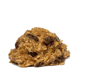 Oatmeal Raisin Cookie Dough Ball 写真素材