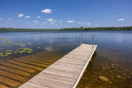 Lake Coon Boat Dock and Ramp Stock Photo
