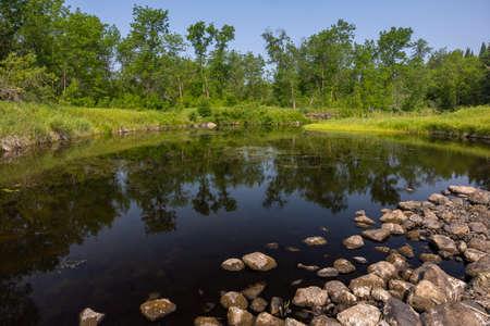 North Fork Roseau River in northern Minnesota.