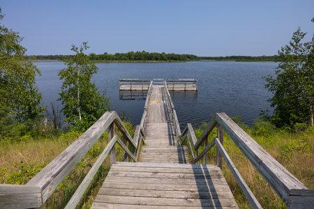 Fishing Dock On Lake Bronson