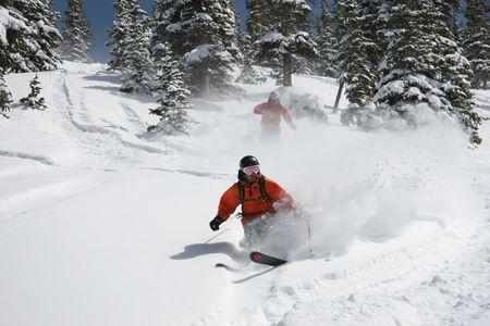 arri�re-pays: Le ski en neige poudreuse hors piste