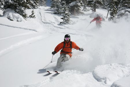 Powder skiing in the back country