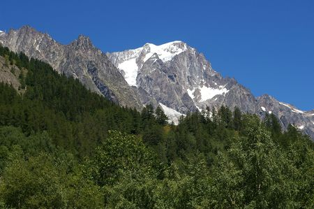courmayeur: Macizo del Mont Blanc, Alpes, desde Courmayeur Italia