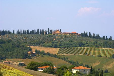 Rural Tuscan Scene,Tuscany,Italy photo