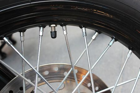 Tire valve cap of the big bike