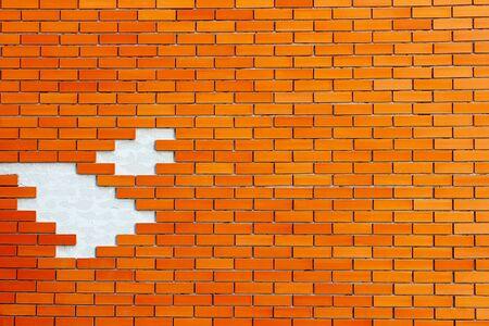 Brown bricks wall as a background Banco de Imagens