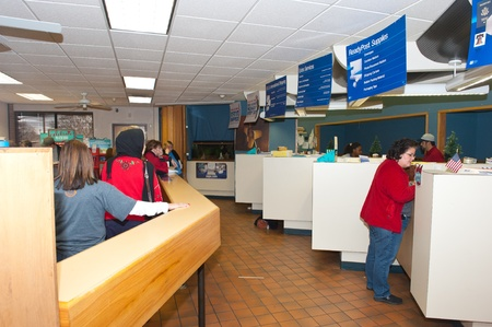 united states postal service: United States Postal Service (USPS) at Christmas, Lubbock TX