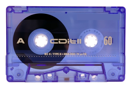 90s: classic audio tape isolated