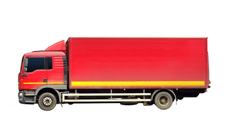 red truck isolated Stock Photo - 11175681
