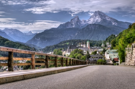 Berchtesgaden landscape and Watzmann mountain