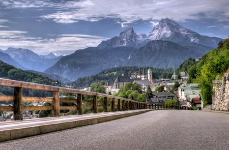 berchtesgaden: Berchtesgaden landscape and Watzmann mountain