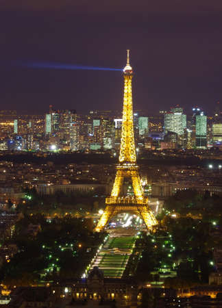paris at night: Eiffel tower at night, Paris Editorial