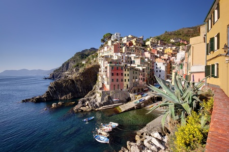 Riomaggiore, Cinque Terre, Italy, fishermen village Stock Photo - 12563925