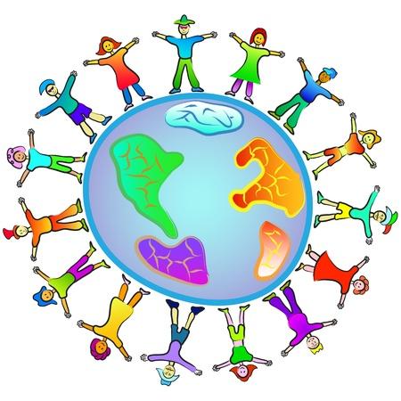 paz mundial: personas en todo el mundo