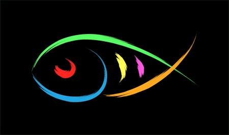 pez cristiano: peces ilustración de símbolo Vectores