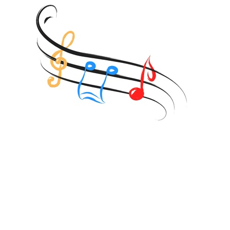 music notes abstract Vector