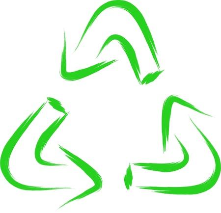 sketch of recycle symbol Vector