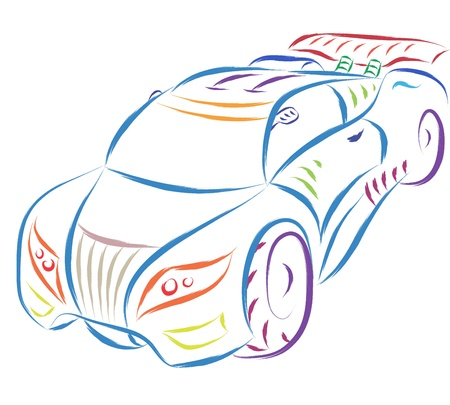 abstract sports car sketch Vector