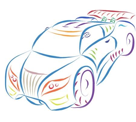 abstract sportwagen schets Vector Illustratie