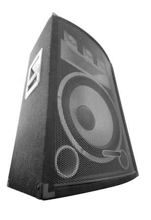 sub woofer: big wide loud speaker isolated Stock Photo