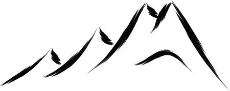 boceto de montaña naturaleza Ilustración de vector