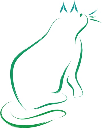 Cat silhouette Stock Vector - 13359641