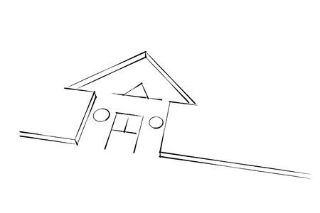 house sketch abstract illustration Stock Illustration - 13476733