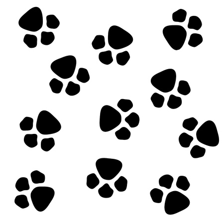 foot prints: dog paw prints pattern