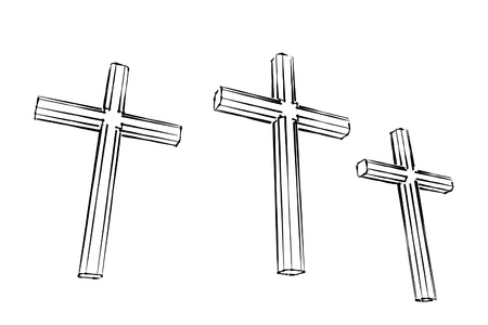 christian crosses: calgary crucifix illustration
