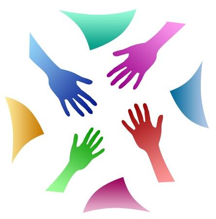 joined hands: teamwork hands
