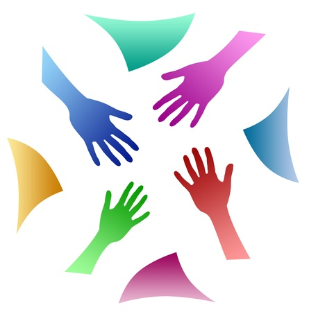 manos unidas: trabajo en equipo manos