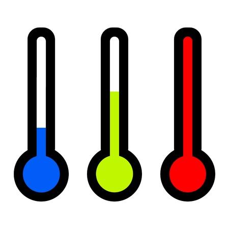 termometro: illustrazione termometri a colori Archivio Fotografico