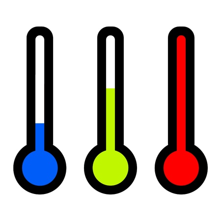 thermometers: thermometers illustration in colors