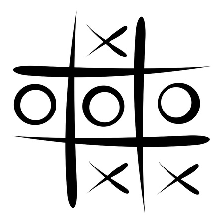 tic tac toe game Stock Photo - 13476787
