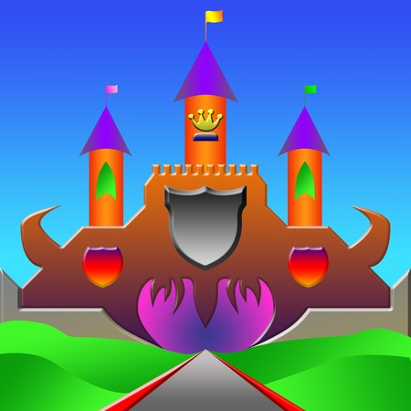 Fairy tale castle illustration Stock Illustration - 13477176
