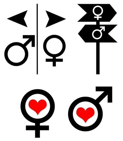 Man and woman sex symbol set Stock Photo - 13477153