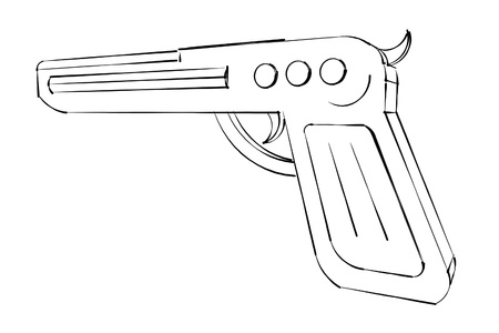 pistol gun sketch photo