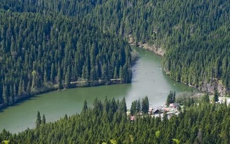 natural lake (Red Lake, Romania) Standard-Bild