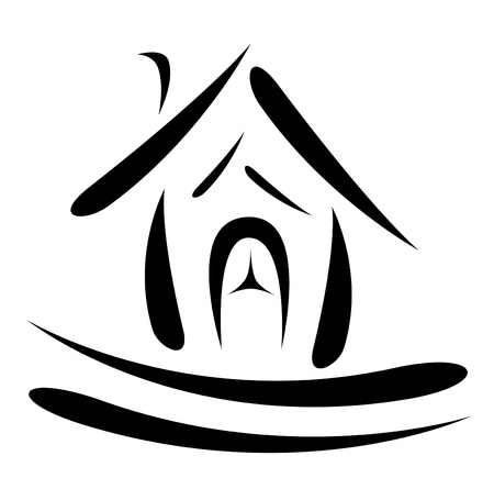 abstract house symbol photo
