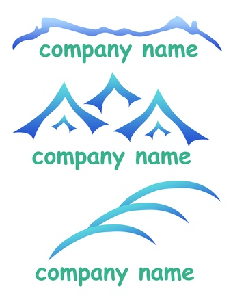Mountain icons set logo for company photo