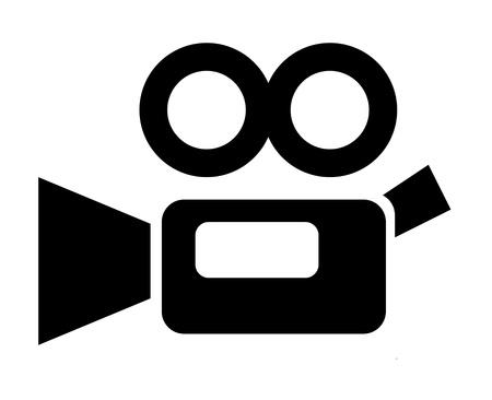 camara: c�mara de v�deo la pel�cula del vintage signo Foto de archivo